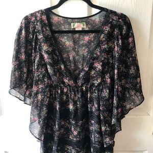 Flying tomato floral tunic dress